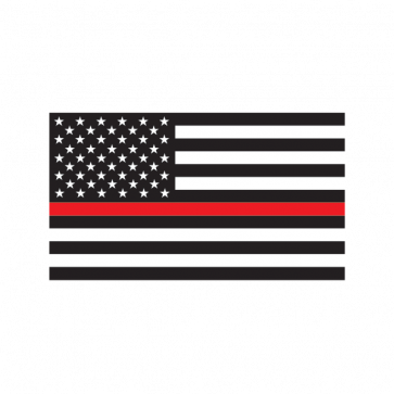 Thin red line flag license plate