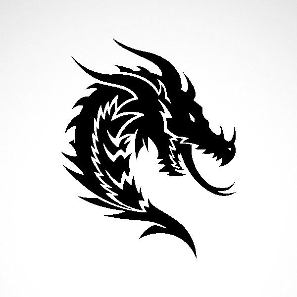 Simple color vinyl Dragon Head | Stickers Factory