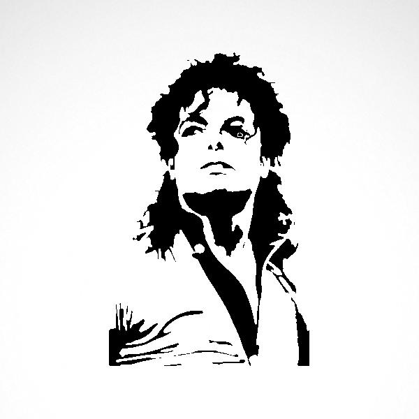 Simple Color Vinyl Michael Jackson Stickers Factory