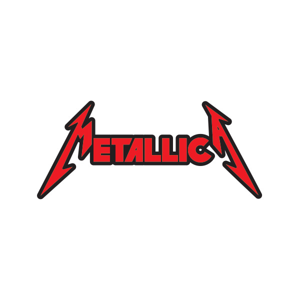 printed vinyl metallica logo stickers factory rh stickers factory com metallica new logo font metallica logo font generator
