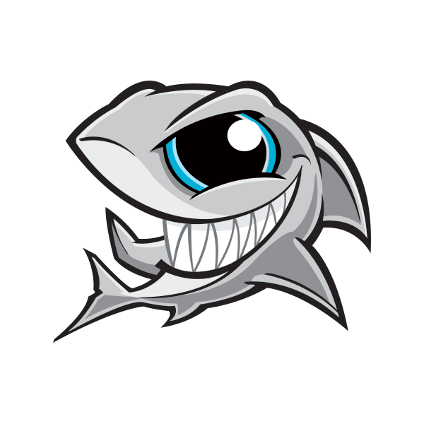 Printed Vinyl Angry Shark Smile Stickers Factory