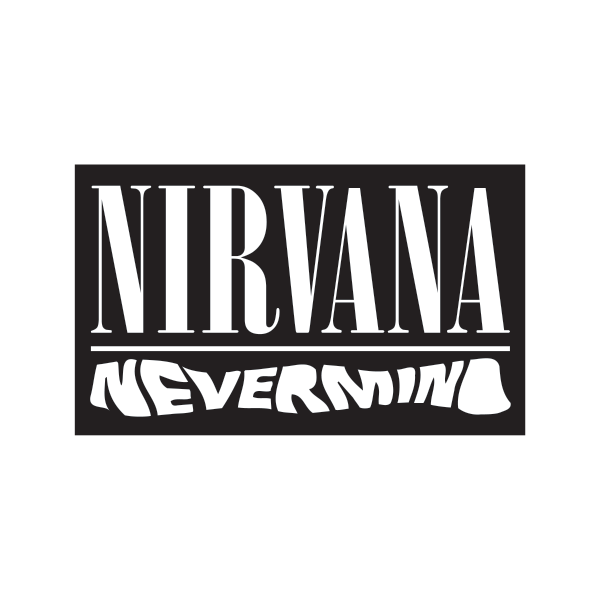 Printed vinyl Nirvana Never Mind Logo | Stickers Factory
