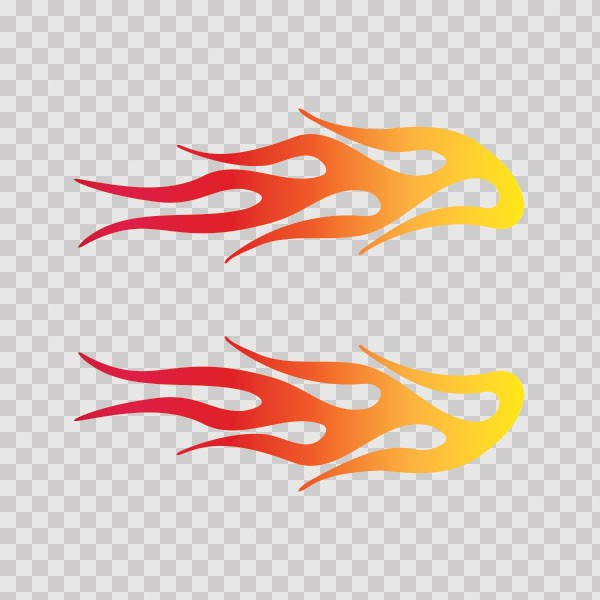 Decals Decal Pair Of Flames Red Orange Yellow 20 02260