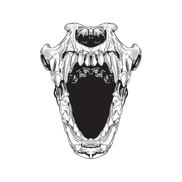 Terror skull open mouth 02443