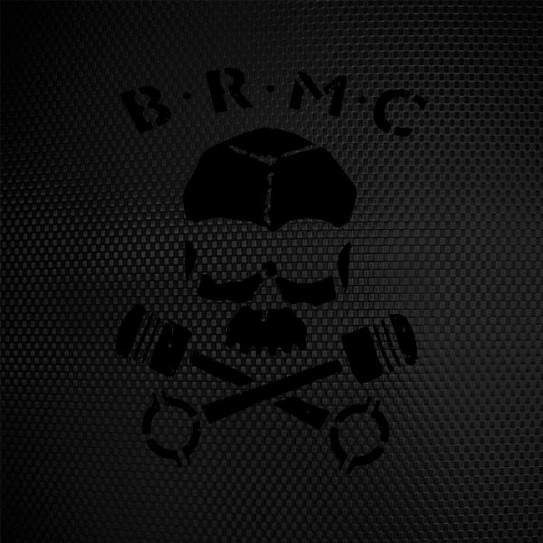 simple color vinyl brmc skull stickers factory