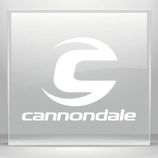 Simple Color Vinyl Cannondale Mountain Bike Logo Stickers Factory