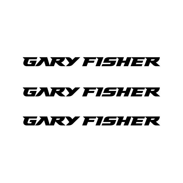 Gary Fisher Mountain Bicycle Frame Decals Stickers Adhesive Set Vinyl White