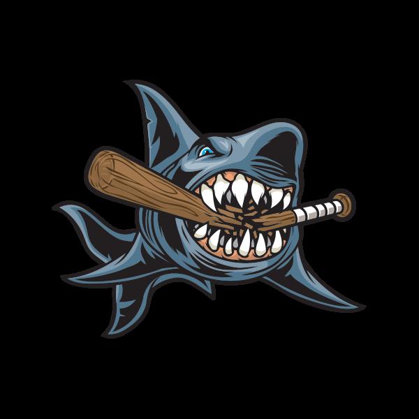Printed Vinyl Baseball Shark Stickers Factory