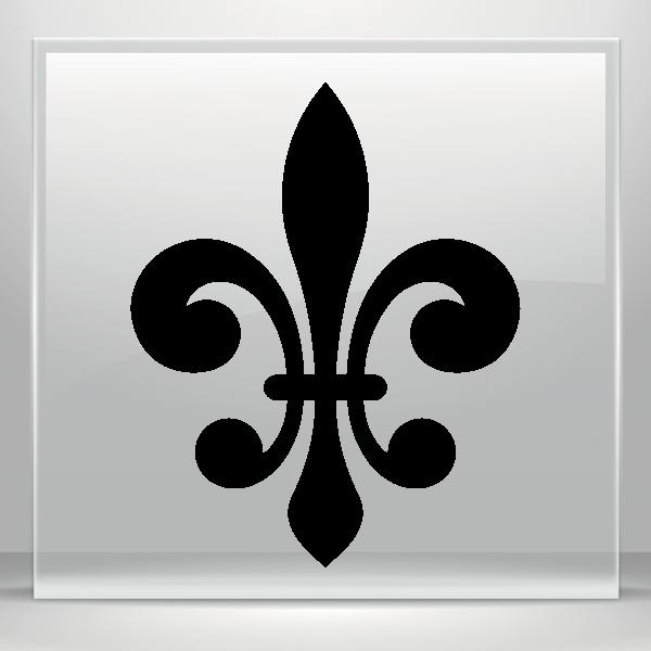 Simple Color Vinyl Fleur De Lis Logo Symbol Stickers Factory