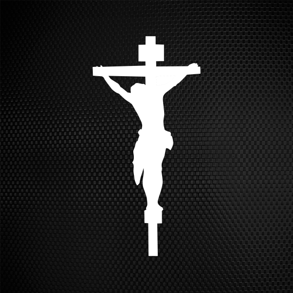 Simple Color Vinyl Jesus Christ Cross Symbol Stickers Factory