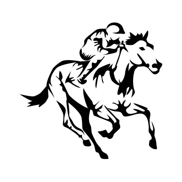 Simple Color Vinyl Horse Racing Jockey