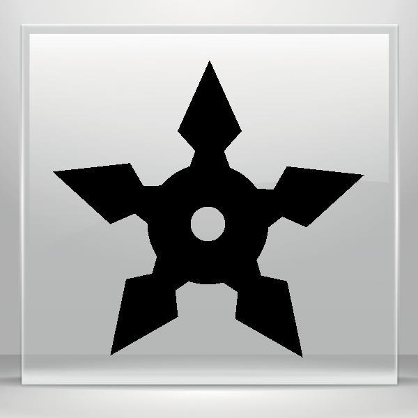 Sticker Decals Martial Arts Ninja Star 20 03833