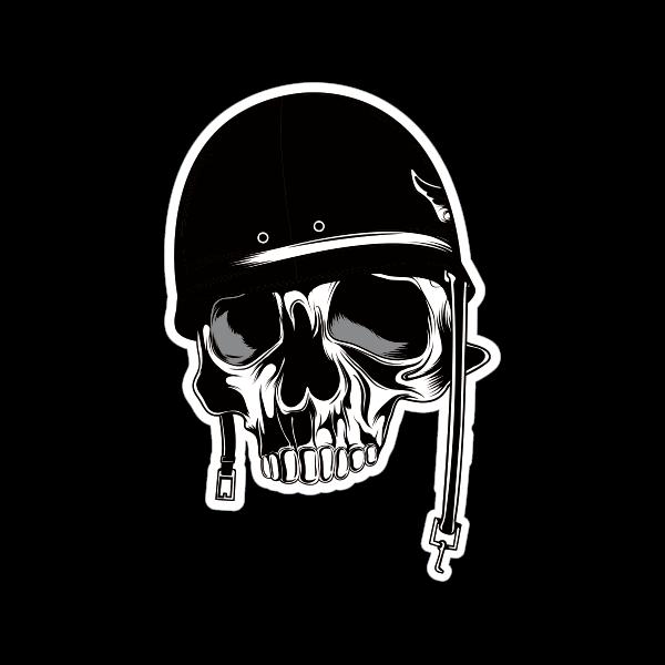 printed vinyl warrior music skull stickers factory