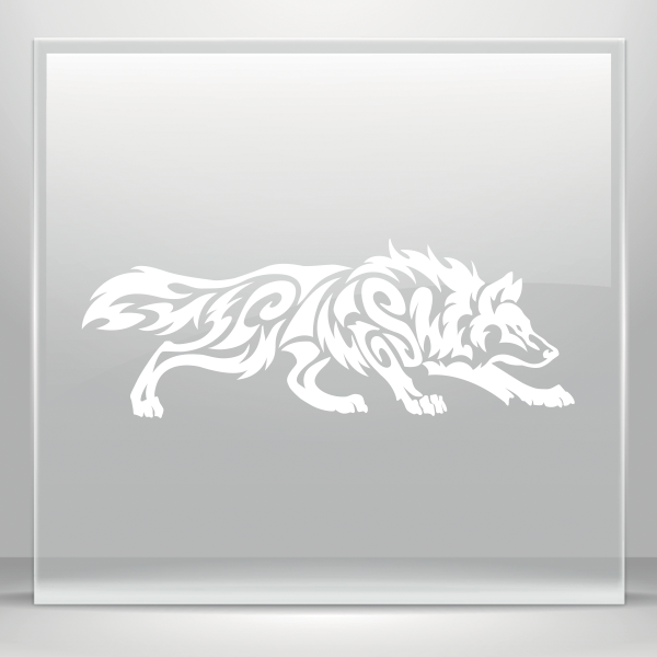 Simple Color Vinyl Tribal Wolf Attack Stickers Factory
