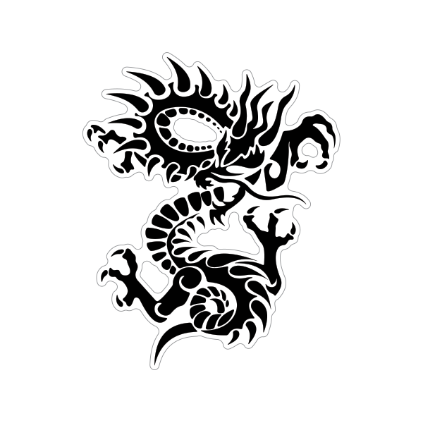 dragon stickers Martial Arts dragon decals,wall decals martial arts stickers