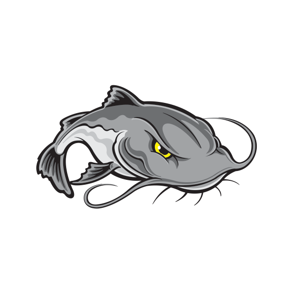 CATFISH BOMB-A-BAIT FISHING COMPANY DECAL~ EXTRA LARGE 8 INCHES X 8 INCHES