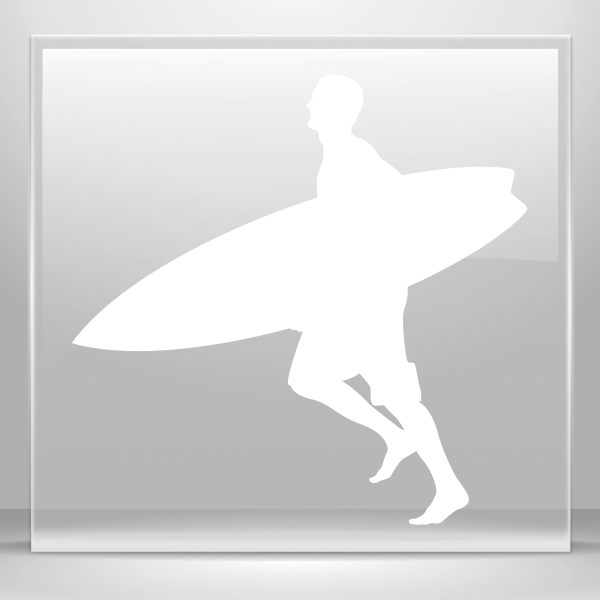 Choose Color//Size Bic Surf Surfing Surfboards Hibiscus Vinyl Decal Sticker