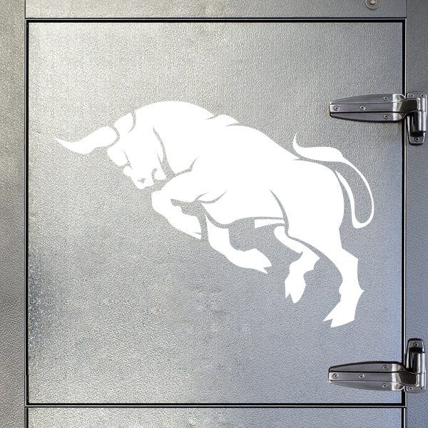 Stickers Decal Bull Figure Attack 20 07056