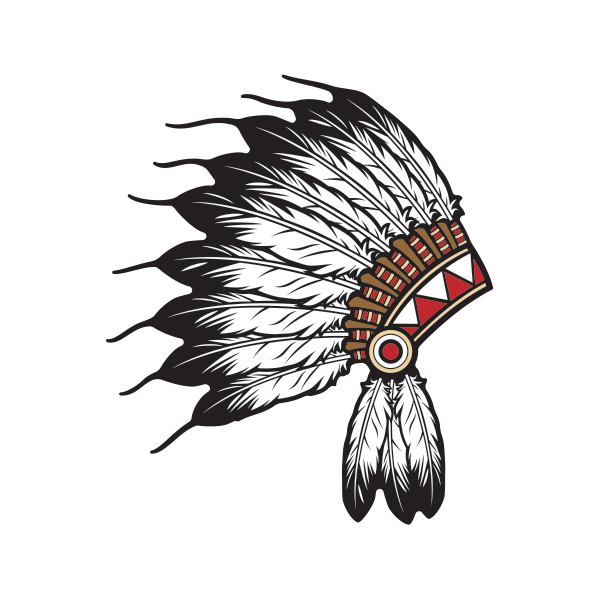 Printed vinyl Feather Hat Of Native Indian Chief | Stickers Factory