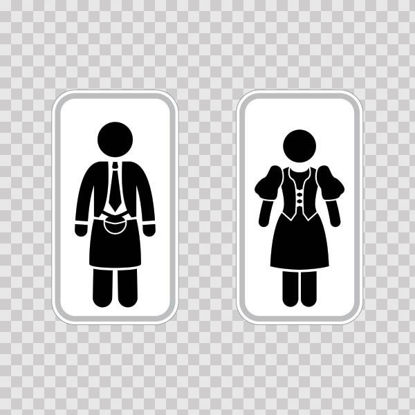 Bathroom Signs In Scotland printed vinyl wc restrooms sign scotland man woman toilet bathroom