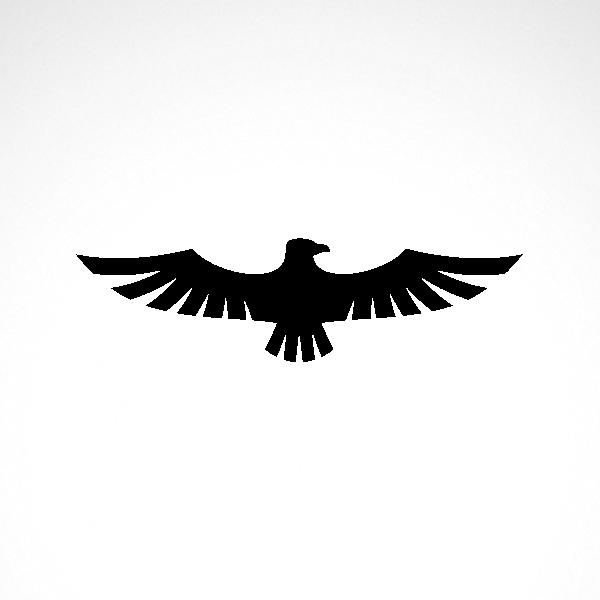 Simple Color Vinyl Eagle Symbol Stickers Factory