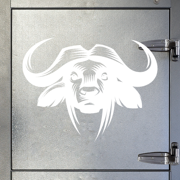 318b8c469a344 Simple color vinyl African Cape Buffalo | Stickers Factory