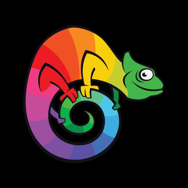 printed vinyl chameleon cartoon stickers factory