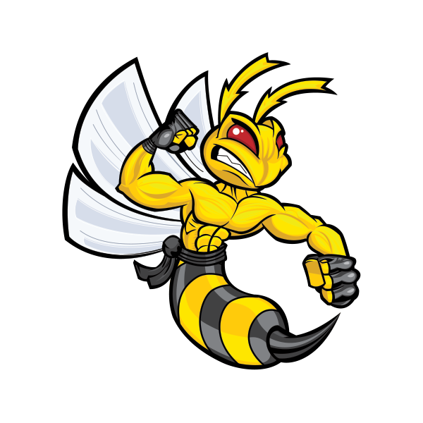 Printed Vinyl Bee Hornet Wasp Vespa Fighter Stickers Factory