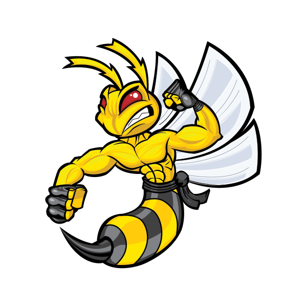 Printed Vinyl Bee Hornet Wasp Vespa Fighter Stickers