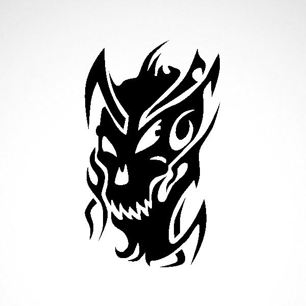 b6fe67484 Simple color vinyl Devil Monster | Stickers Factory