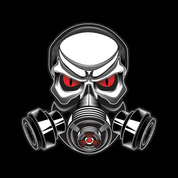 Printed vinyl Gas Mask Skull | Stickers Factory
