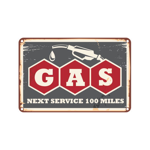 Printed vinyl Vintage Gas Station Sign | Stickers Factory