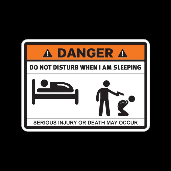 printed vinyl danger funny do not disturb when i am