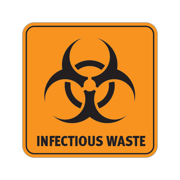 Printed Vinyl Biohazard Infectious Waste Stickers Factory