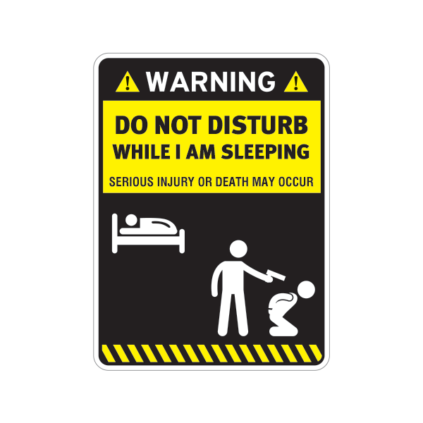printed vinyl funny do not disturb while i am sleeping