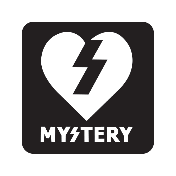 Printed vinyl Mystery Skateboard Logo Black White ... Mystery Skateboards Logo