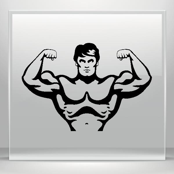 Bodybuilder Pose Body Builder Funny Graphic Decal Sticker Car Vinyl