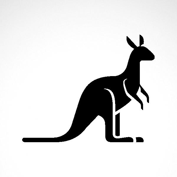1a5b0b519a31d Simple color vinyl Kangaroo Figure | Stickers Factory