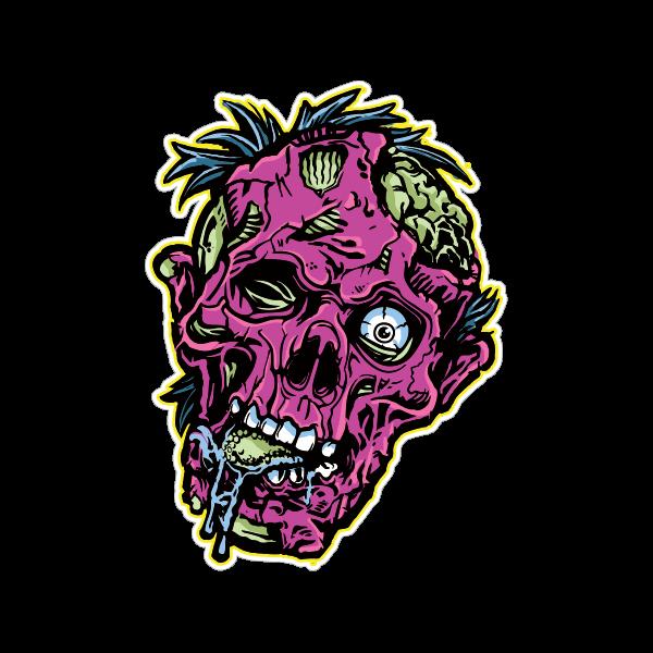 Printed vinyl Zombie Head | Stickers Factory
