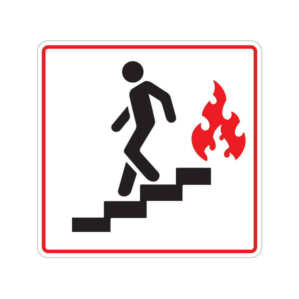 Printed Vinyl Use Stairs In Case Of Fire Symbol Stickers Factory