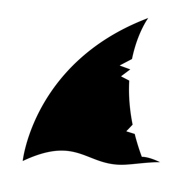 Simple color vinyl Shark Fin | Stickers Factory