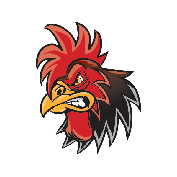 rooster head cartoon - 600×600