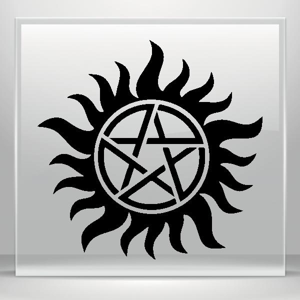 Simple Color Vinyl Anti Possession Symbol Supernatural Catholic