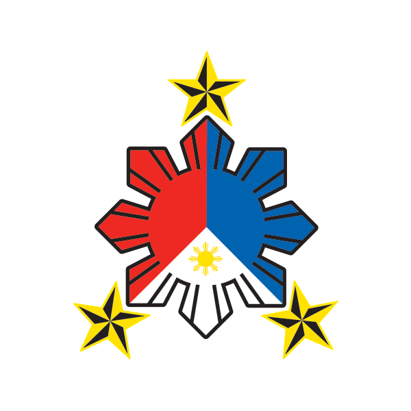 Eight-ray Sun with stars Flag of the Philippines Car Decal Sticker
