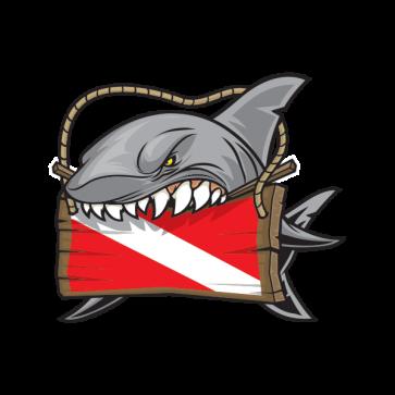Shark Scuba Flag 01471