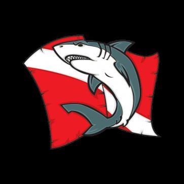 Shark Scuba Flag 01472