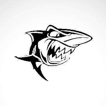 Cartoon Shark Bite 01700