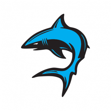 Cartoon Shark Swimming 01758