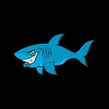 Cartoon Shark On Patrol 01774