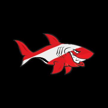 Cartoon Scuba Flag Shark 01776